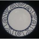 Prato Sobremesa Espiral Azul SPAL